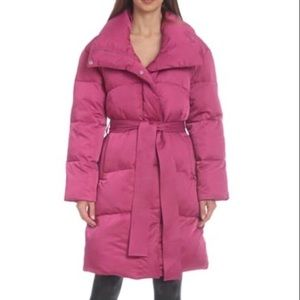 Avec Les Filles Winter Midi Belted Puffer Jacket S